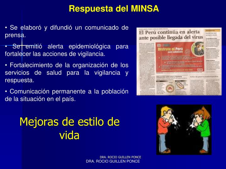 Respuesta del MINSA