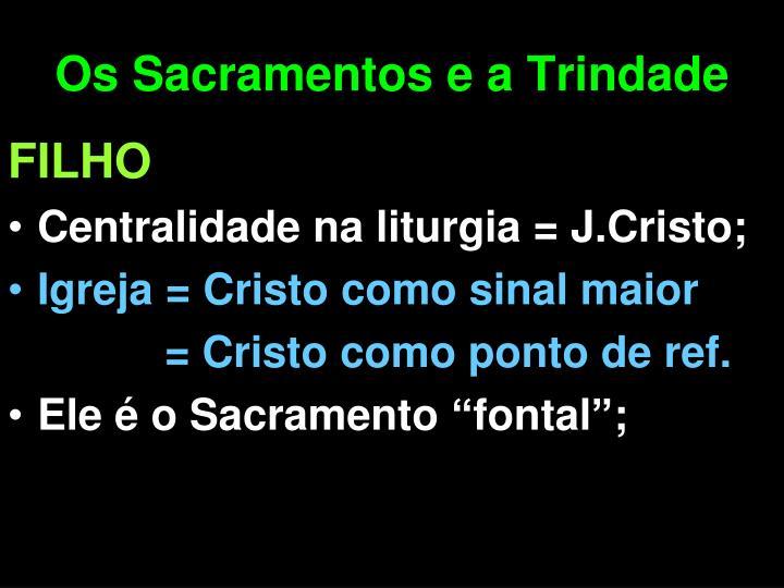 Os Sacramentos e a Trindade