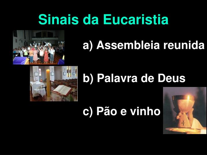 Sinais da Eucaristia