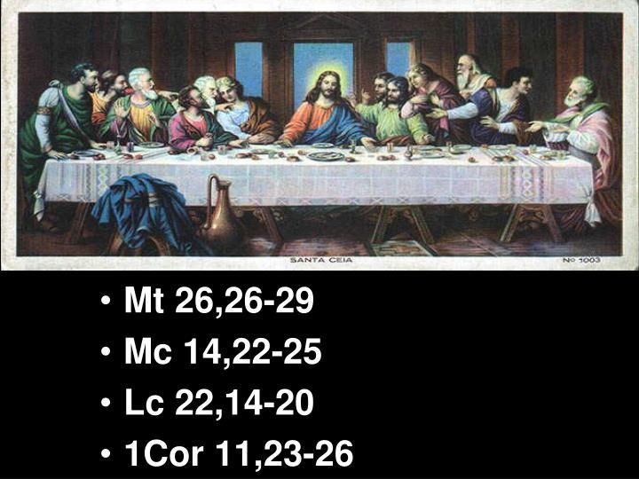 Mt 26,26-29