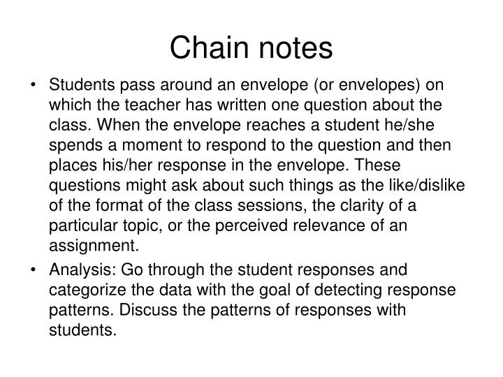 Chain notes