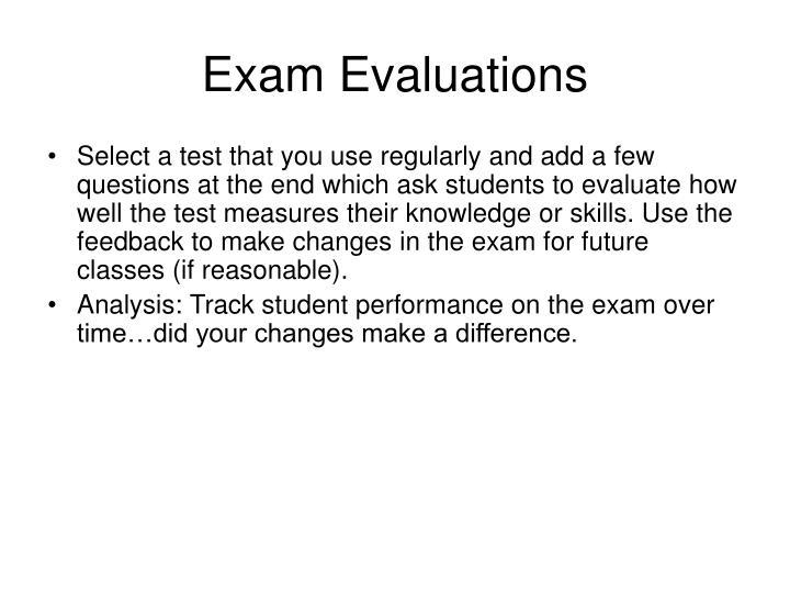 Exam Evaluations