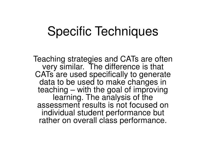 Specific Techniques