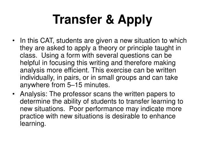 Transfer & Apply