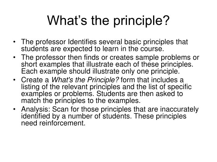 What's the principle?