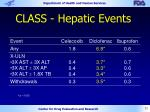 class hepatic events