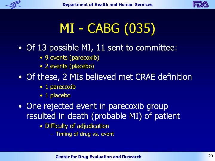 MI - CABG (035)