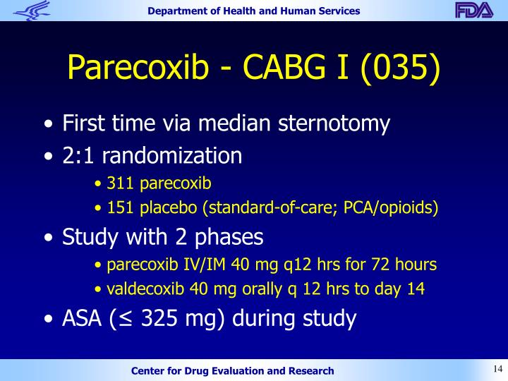 Parecoxib - CABG I (035)