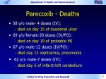 parecoxib deaths