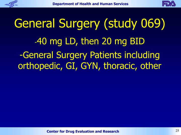 General Surgery (study 069)