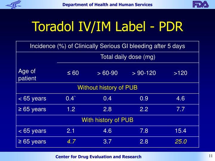 Toradol IV/IM Label - PDR