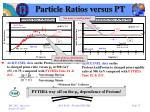 particle ratios versus pt1