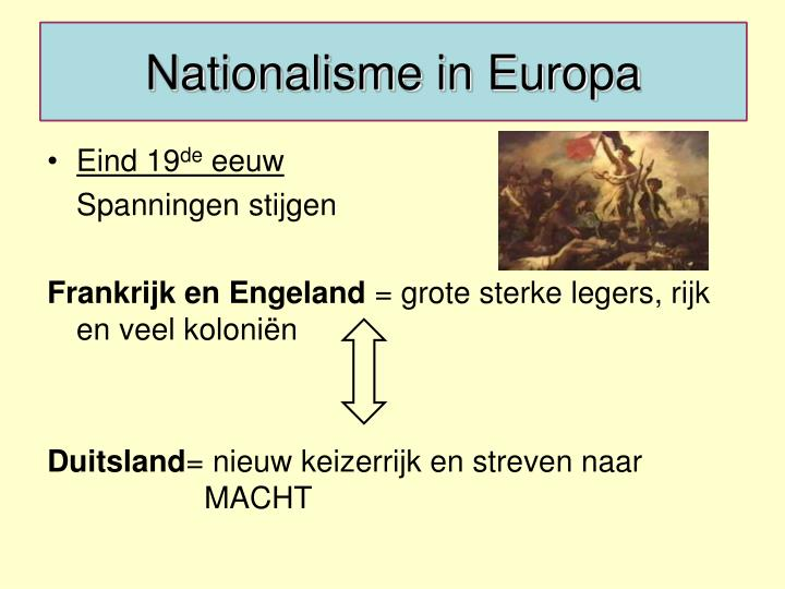 Nationalisme in Europa
