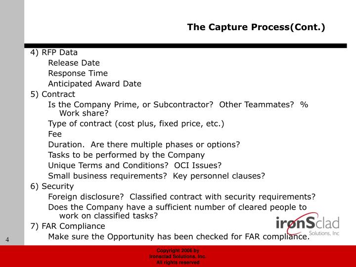 The Capture Process(Cont.)