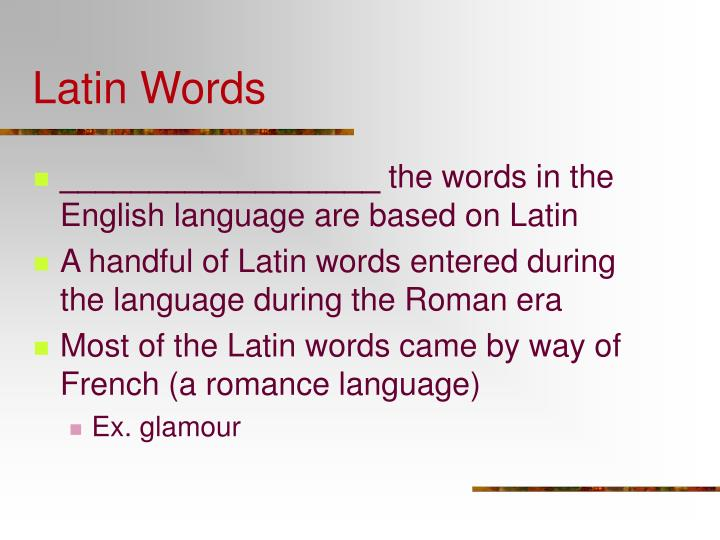 Latin Words