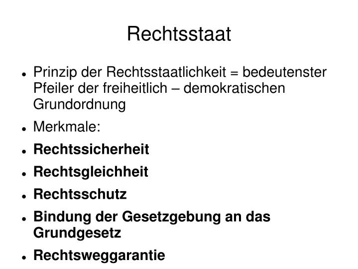 Rechtsstaat