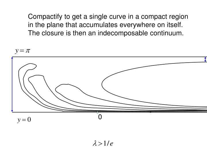 Compactify to get a single curve in a compact region