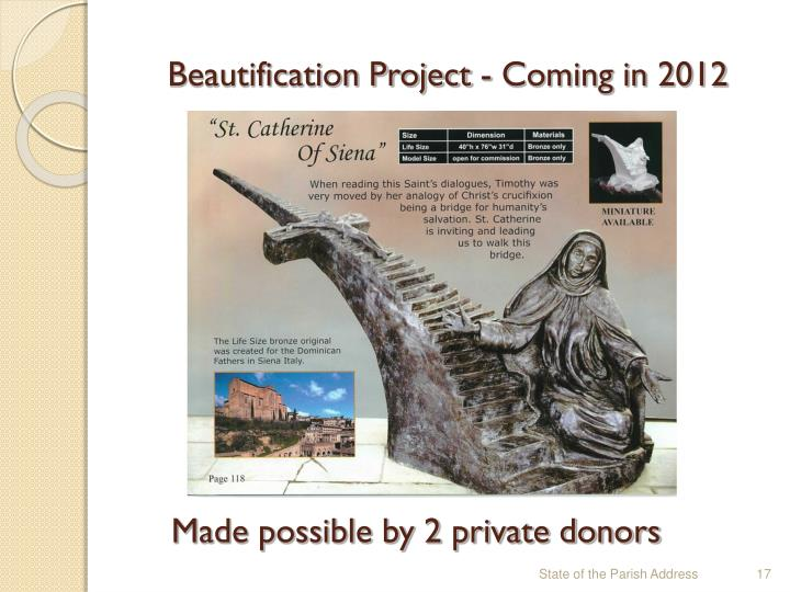 Beautification Project - Coming in 2012