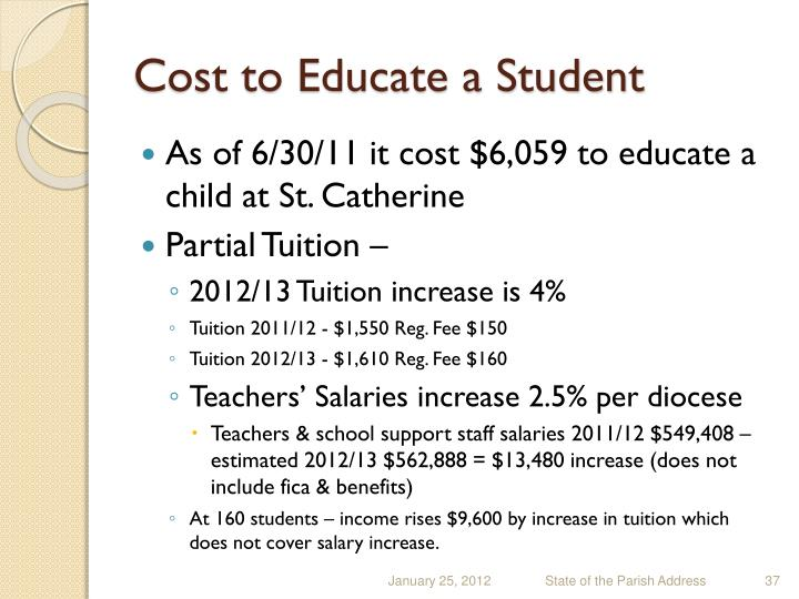 Cost to Educate a Student