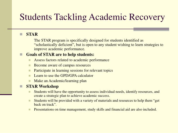 Students Tackling Academic Recovery