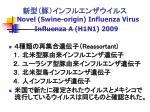 novel swine origin influenza virus influenza a h1n1 2009