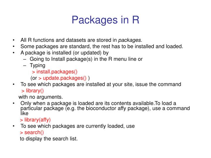 Packages in r