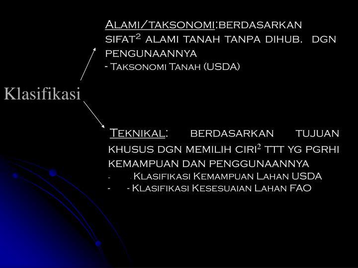 Alami/taksonomi