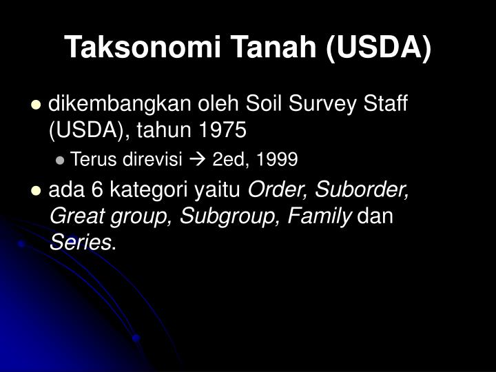 Taksonomi Tanah (USDA)