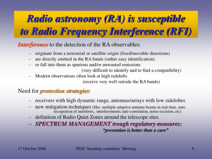 PPT - Radio Spectrum Management: a challenge to Science ...