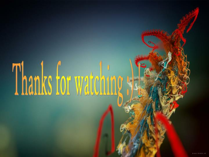 Thanks for watching :) !