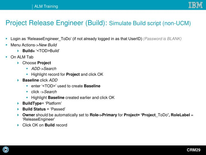 release engineer more information