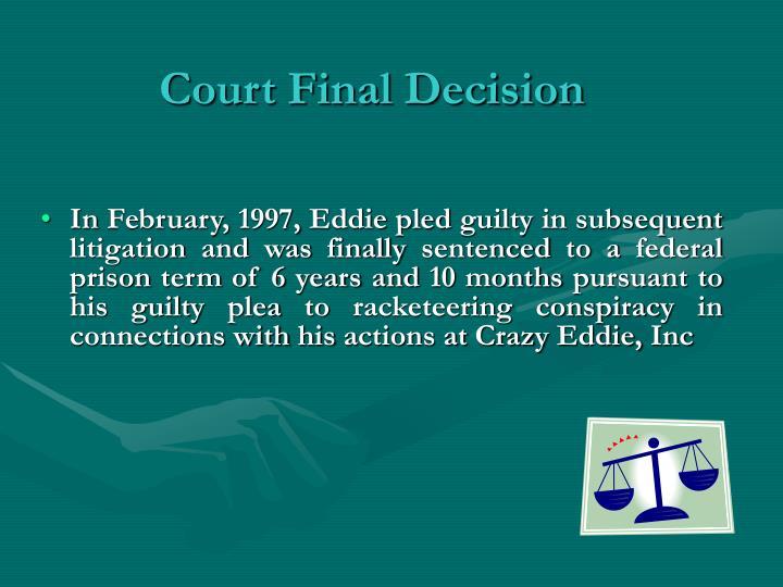 Court Final Decision