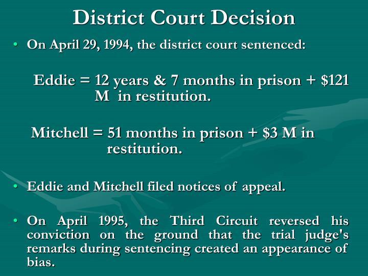 District Court Decision