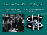 lessons from crazy eddie inc