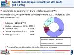 aspect conomique r partition des co ts kit 3 kwc