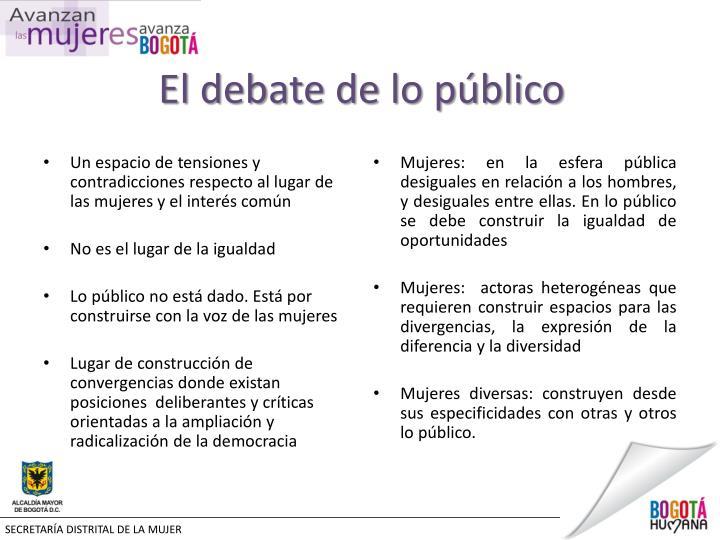 El debate de lo público