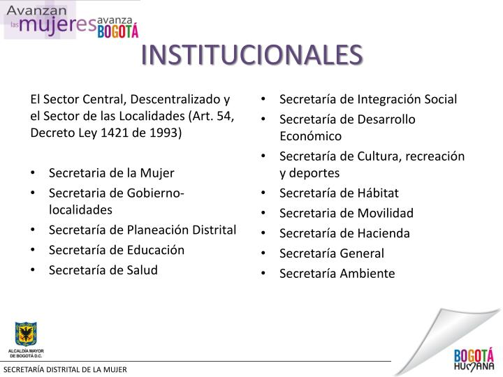 INSTITUCIONALES