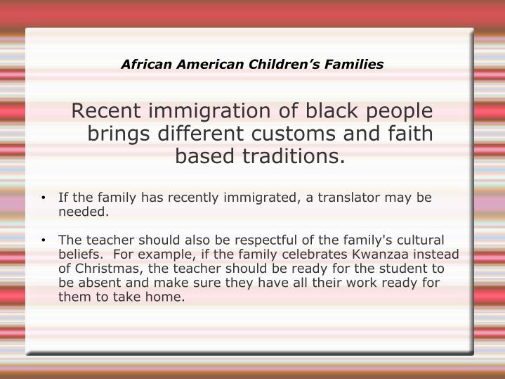 African American Children's Families