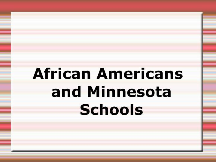 African americans and minnesota schools