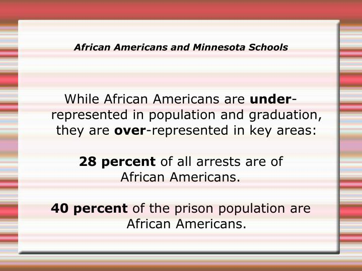 While African Americans are