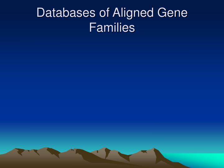 Databases of Aligned Gene Families
