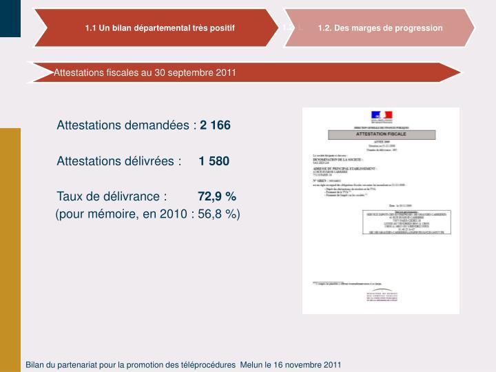 1.1 Un bilan départemental très positif
