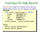 creating a pl sql record