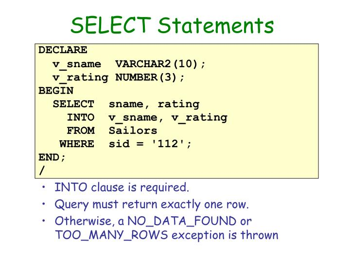 SELECT Statements