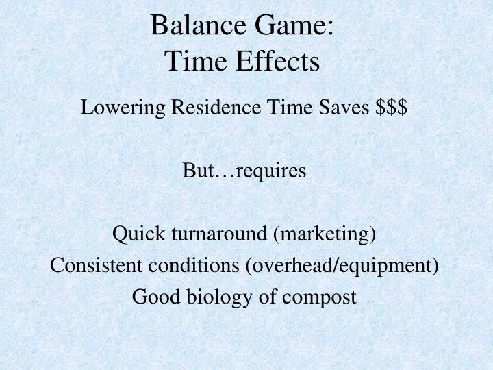 Balance Game: