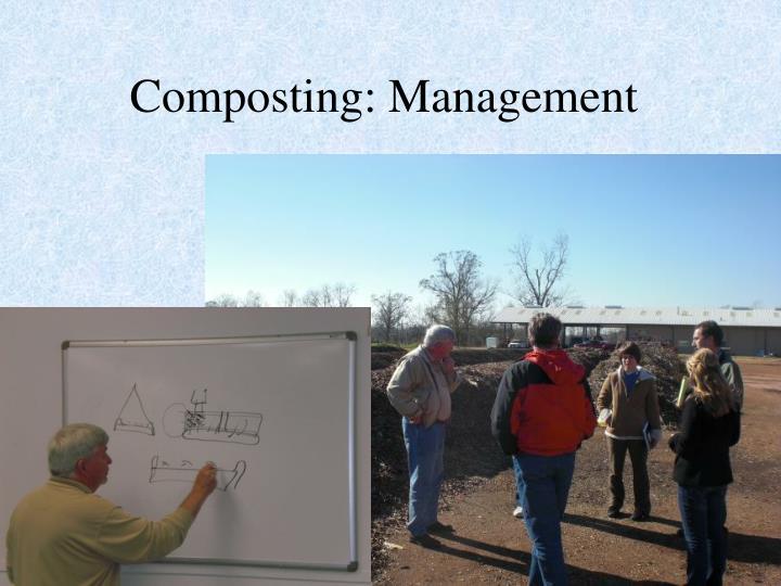 Composting: Management