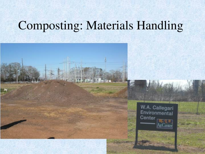 Composting: Materials Handling