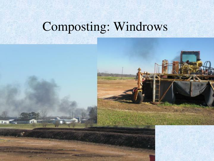 Composting: Windrows
