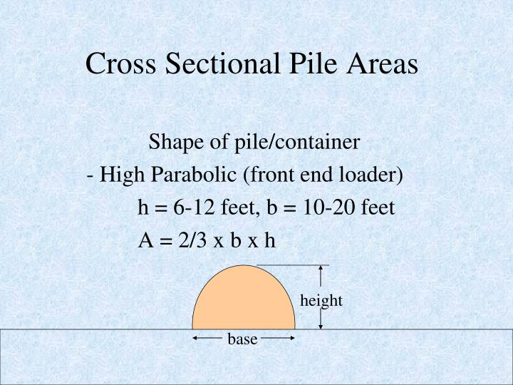 Cross Sectional Pile Areas