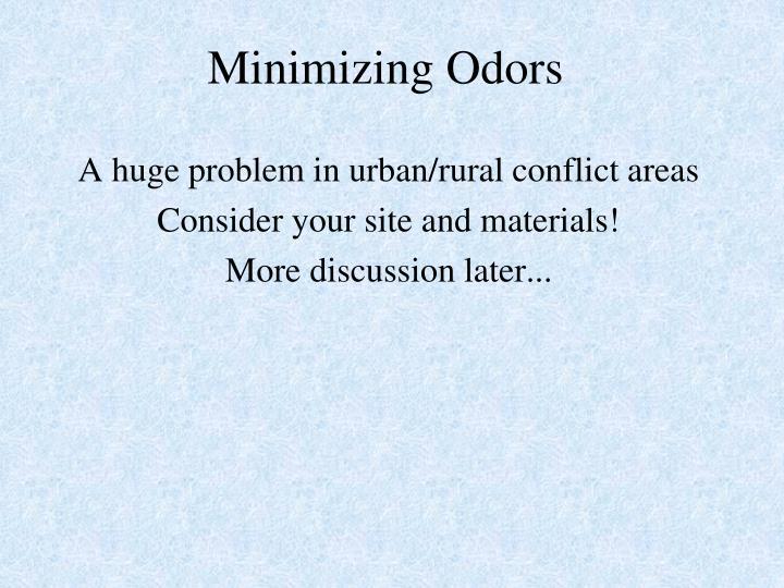 Minimizing Odors